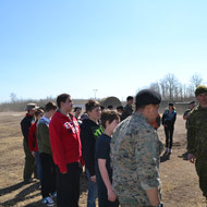 Cadet Visit to the field with LdSH(RC) May 2012