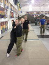 MWO Clarke running drills with Cpl Stratford