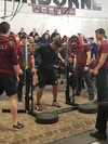 Tpr Sean Tong hits the squat rack during Ex STRONG CONTENDER