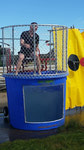 Lt Alex Young after becoming well acquainted with the water during the last dunk tank shift of the day!