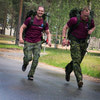 Captain McHugh and Captain Horlings cross the finish line during ex Baltic Warrior